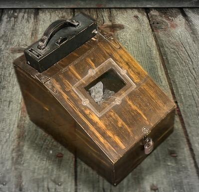 Closeup of flourescent box